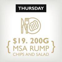 MSA Rump Chips & Salad